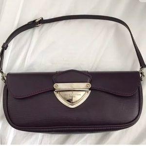 Louis Vuitton Montaigne epi Handbag purple
